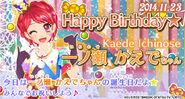 Bnr kaede-birthday