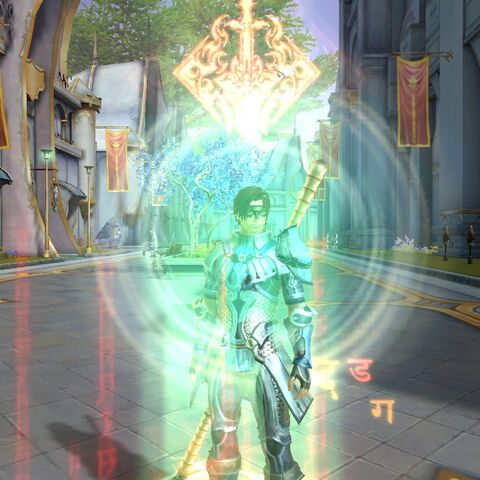 Victory Mantra's activation animation.