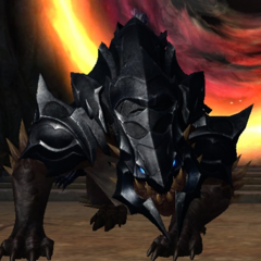 Modern Drakan with a mount (Beritra Army)