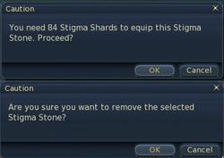 Equip stigma stones