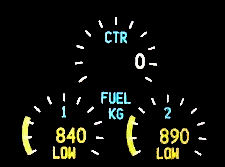 Fuel gauges ng low