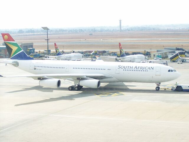 File:Saa a340-200 jhb international airport.jpg