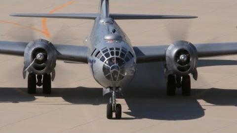 B-29 FIFI, Start, Takeoff, Landing, Shutdown (Birds-eye View) on 8-11-2012