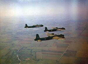 Short Stirlings 1651 HCU in flight 1942