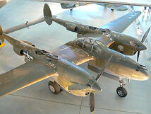 Lockheed P-38 Lightning fighter in museum