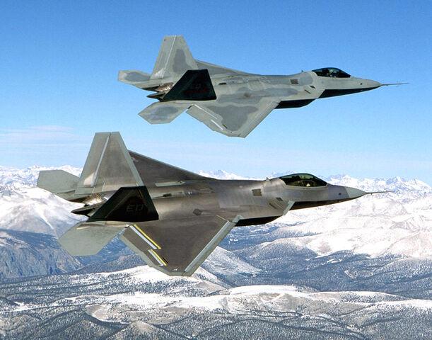 File:Two F-22 Raptor in flying.jpg