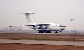 Landing roll of a IL-76