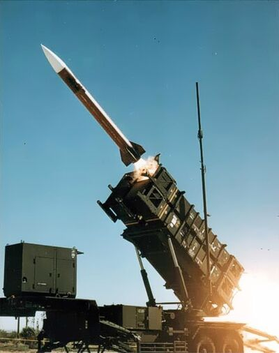 Patriot missile launch b