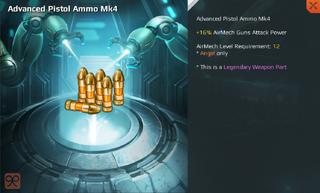 Advanced Pistol Ammo Mk4 Full