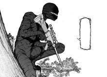 Ajin tanaka's ghost with sniper