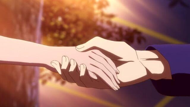 File:Zen and Shirayuki Hold Hands S1E7.jpg