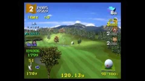 Hot Shots Golf 2 - Gex vs. Sweet Tooth vs