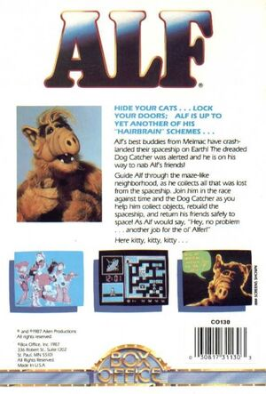 ALF - C64 back cover