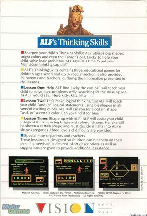 ALF's Thinking Skills box-back