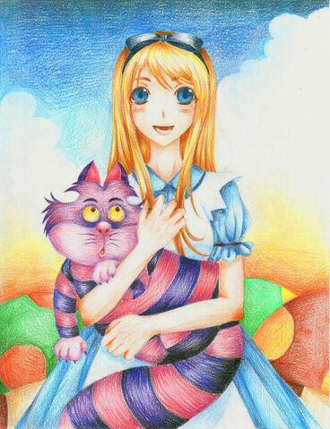 File:Alice in Wonderland by eKurosu.jpg