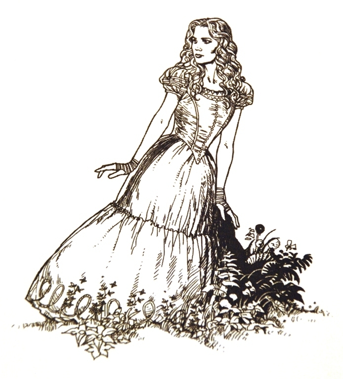 Alice in wonderland line drawings alice in wonderland