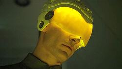David with visor