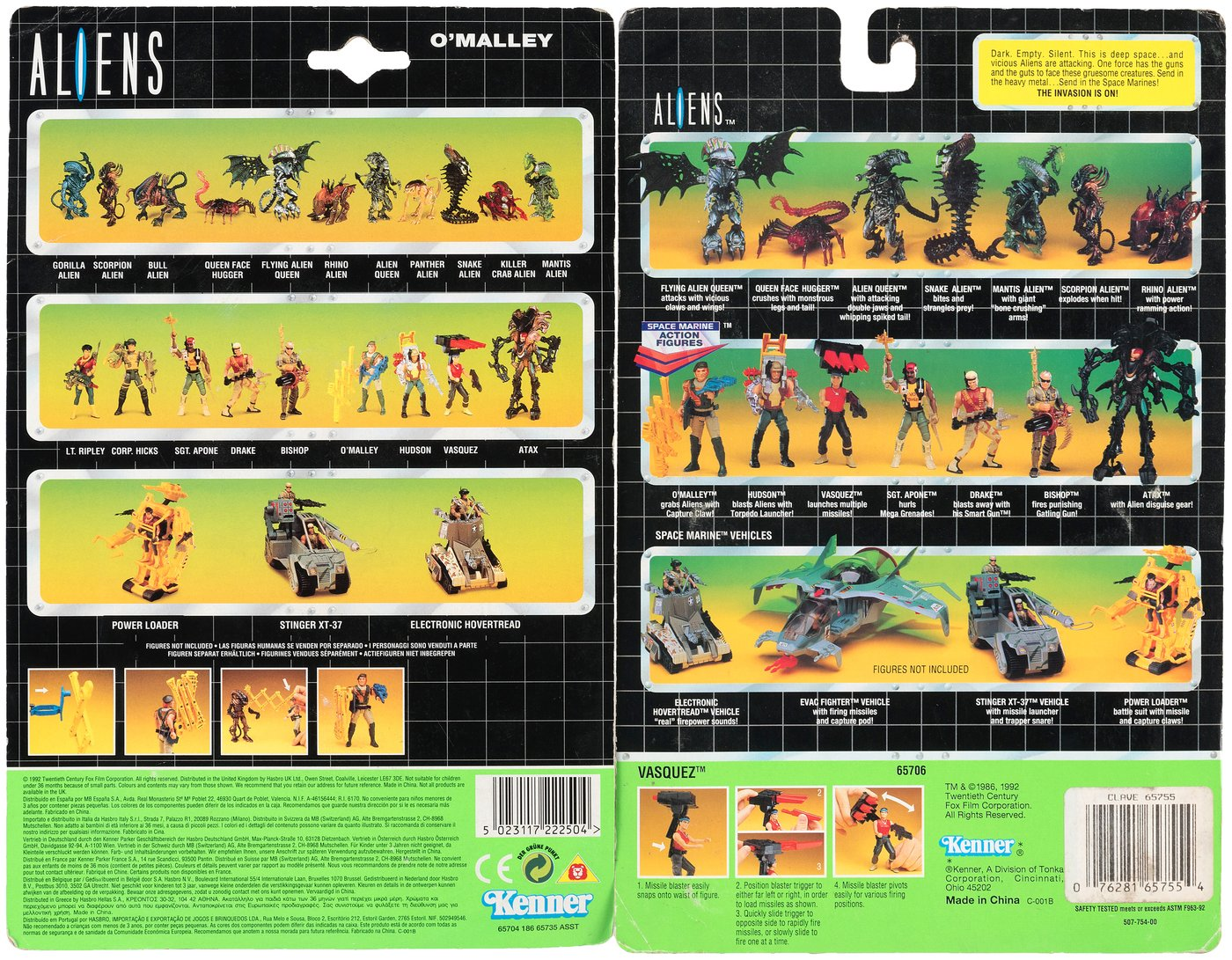 Aliens Kenner line of toys