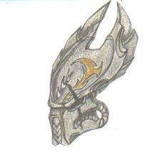 Predator ancient helmet design by jackalsmoon