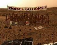 Protesting Martians