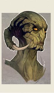 Aliens head concept i by zarnala-d4x5f0a