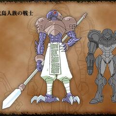 another Chozo Warrior with Samus Aran