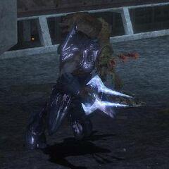 A Flood-Infected Elite wielding an Energy Sword