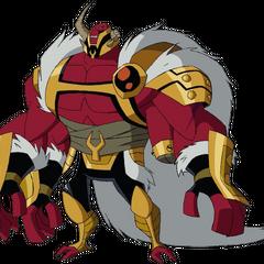 Warlord Gar on his throne