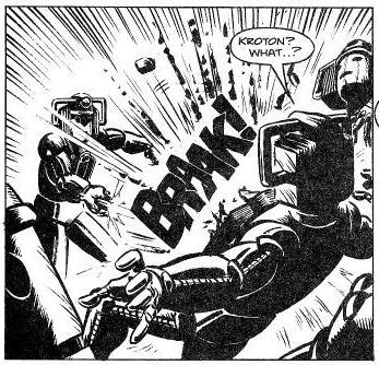 File:Kroton attacks the Cybermen with his cyber gun..png