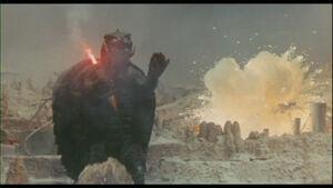 Gamera fights on Terra.