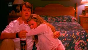 Celeste and Steven having a tender moment.