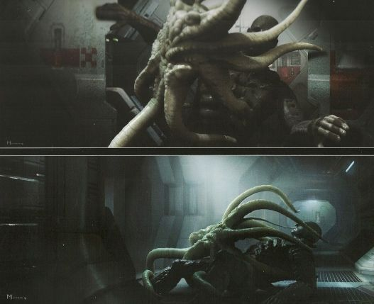 Image trilobite alien species fandom for Prometheus xenomorph mural