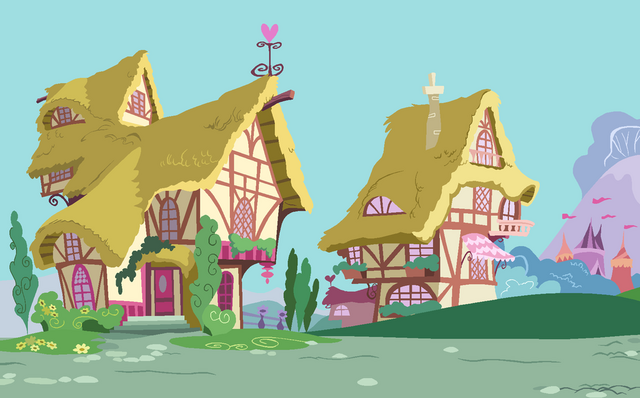 File:Ponyville street by selenaede-d6bwr6h.png
