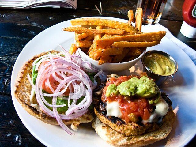File:800px-Veggie burger flickr user bradleyj creative commons.jpg