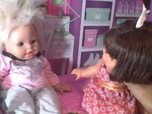 Katie and sarah at Sarah and Chrissa's house