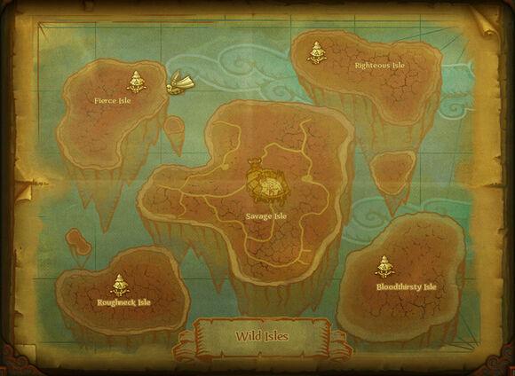 Map wild isles