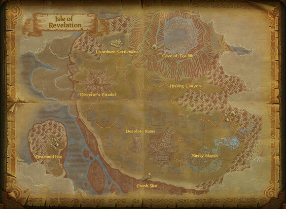 Map isle of revelation