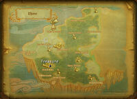 Eljune treasure map