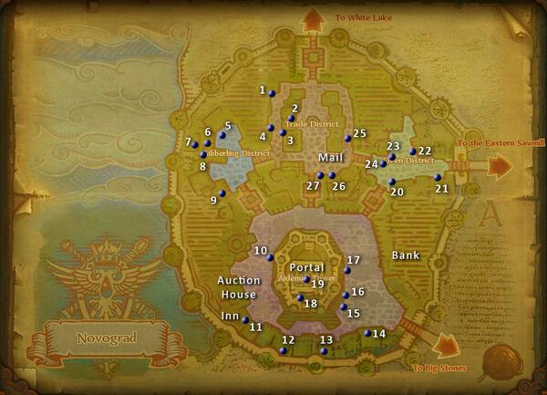 Novograd map merchants