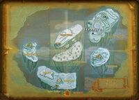 Frozen Frontier treasure map