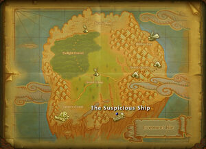 Suspicious ship map