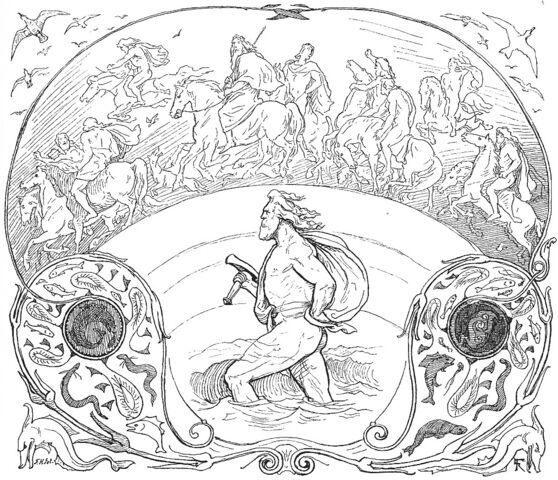 File:Thor wades while the æsir ride by Frølich.jpg