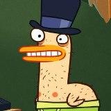 Duck wearing a top hat