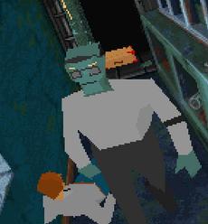 Bank teller zombie