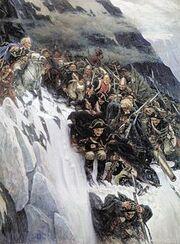 Suvorov crossing the alps