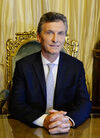 Presidente Macri en el Sillon de Rivadavia (cropped)