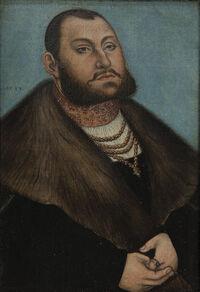 Lucas Cranach d.Ä. - Porträt des Kurfürsten Johann Friedrich des Großmütigen von Sachsen (Statens Museum for Kunst)