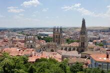 Panorámica de la ciudad de Burgos desde el Castillo.