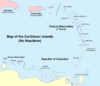 Map of the Caribbean (No Napoleon)