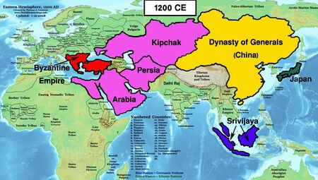 Map Chinese Empire 1200 (EW)